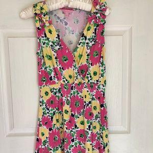 LILLY PULITZER Floral Dress Cotton Ladybug